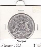 SVEZIA   2  KRONOR  ANNO 1903  COME DA FOTO - Svezia
