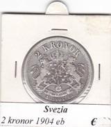 SVEZIA   2  KRONOR  ANNO 1904  COME DA FOTO - Svezia