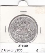 SVEZIA   2  KRONOR  ANNO 1906  COME DA FOTO - Svezia