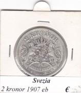 SVEZIA   2  KRONOR  ANNO 1907  COME DA FOTO - Svezia