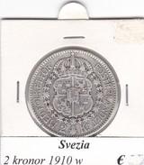 SVEZIA   2  KRONOR  ANNO 1910  COME DA FOTO - Svezia