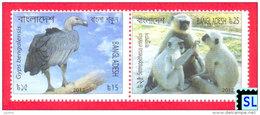 Bangladesh Stamps 2012, Endangered Animals, MNH - Bangladesh
