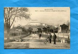 GAP-Avenue D'embrun -cycliste Et Passants -animée -années  -20 -éditionJ Paysan - Gap