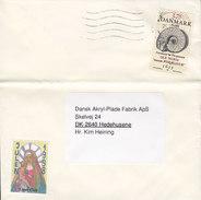 Denmark NORDJYLLANDS POSTCENTER 1998 Cover Brief HEDEHUSENE Ole Worm Stamp Jul Christmas Lions Club Vignette - Dänemark