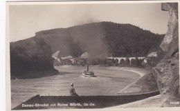 Donau-Strudel Mit Ruine Wörth, Ob.-Oe. (14758) * 10. 9. 1929 - Österreich