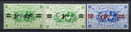 REUNION - Yv. N°  256,257,259  ** MNH  2f40 S 25c,3f S 25c,15f S 2f50  Cote  3,1 Euro   TBE  2 Scans - Réunion (1852-1975)