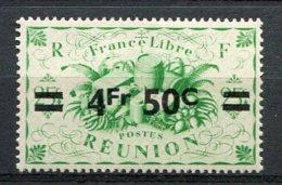 REUNION - Yv. N°  258  *  4f50 S 25c  Cote  0,9 Euro   BE  2 Scans - Réunion (1852-1975)