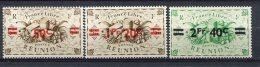 REUNION - Yv. N°  252,255,256  *  50c S 5c,1f20 S 5c,2f40 S 25c  Cote  1,5 Euro   BE  2 Scans - Réunion (1852-1975)
