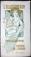 COSSARD PROGRAMME THEATRE DE L'OPERA  WAGNER 22 NOVEMBRE 1902 L'ILLUSTRATION BELLE COMPOSITION BEL ETAT  STYLE MUCHA - Programma's
