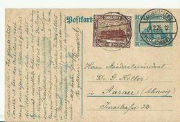 Saar GS St. Johann 1926 In Die Schweiz - Ganzsachen