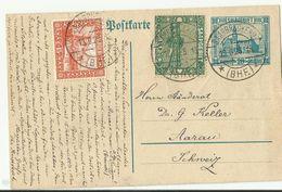 Saar  GS Bahnpost In Die Schweiz 1925 - Enteros Postales
