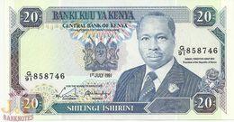 KENYA 20 SHILLINGS 1991 PICK 25d UNC - Kenya