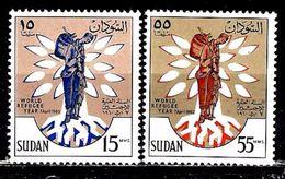 SOUDAN 125/126** Année Mondilae Du Réfugié - Soudan (1954-...)