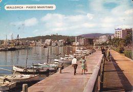 CPSM/gf  MALLORCA (Espagne).  Paseo Maritimo, Animé, Barques De Pêcheur. ..G868 - Mallorca