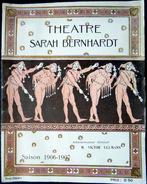 PROGRAMME THEATRE SARAH BERNHARDT LES BOUFFONS AVEC MME SARAH BERNHARDT EN PHOTO 8 PAGES - Programmes