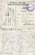 CAMPO PRIGIONIERI POW CAMP 17 LODGE MOOR SHEFFIELD GREAT BRITAIN 1944 CUTRO - 1900-44 Victor Emmanuel III