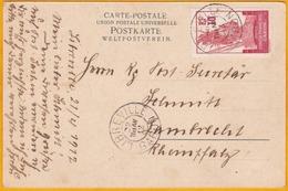 1912 - CP De Libreville, Gabon Vers Lambrecht, Allemagne - Timbre 10c Congo Français Gabon -  Femmes Gabonaises - Gabon (1886-1936)