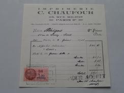 Imprimerie C. CHAUFOUR Paris Rue Milton - Anno 1943 ( Zie Foto Details ) !! - Imprimerie & Papeterie