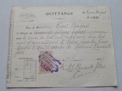 Quittance G. Mégard Administrateur De Biens ROUEN - Anno 1917 ( Zie Foto Details ) !! - France