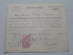 Quittance G. Mégard Administrateur De Biens ROUEN - Anno 1919 ( Zie Foto Details ) !! - France