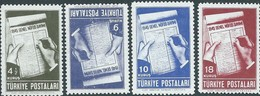 TURCHIA -TURKEY-TURKISH - 1945 SET MNH - 1921-... Republic