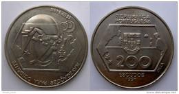 PORTOGALLO 200 S 1991 CU NI NAVIGAZIONE A OCCIDENTE - Portugal