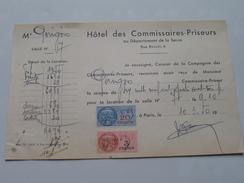 Hôtel Des Commissaires-Priseurs Département De La Seine PARIS - Anno 1950 ( Zie Foto Details ) !! - France