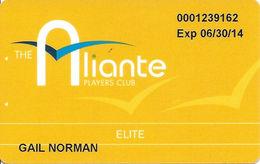 Aliante Casino Las Vegas - Elite Players Club Card With 1-877-477-7627 Phone# - Casino Cards