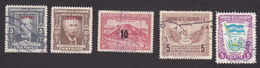 El Salvador, Scott #C118-C119, C121-C122, C125, Used, UPU Flag And Arms, Issued 1948-49 - El Salvador