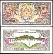 Bhutan 2 NGULTRUM ND 1986 P 13 UNC Bhoutan, Butan - Bhoutan