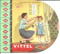 Publicité Vittel, Avec Disque De Mensurations    (bon Etat) - Publicités