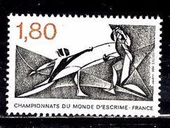 FRANCE 2147** 1,60f Noir Et Brique Championnats Du Monde D'escrime - Unused Stamps