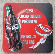 Coca Cola COASTER  Slovenia - Sottobicchieri Di Birra
