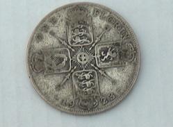 UK GRANDE BRETAGNE ONE 1 Florin 1923 ARGENT SILVER - 1902-1971 : Monnaies Post-Victoriennes