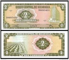NICARAGUA 2 CORDOBAS D.1972 P 121 UNC - Nicaragua