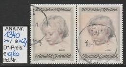 "26.9.1969 - SM Aus Satz  ""200 Jahre Albertina""  (Gemälde Berühmter Maler) -  2 X O  Gestempelt -  S.  Scan (1340o X2) - 1961-70 Usados"
