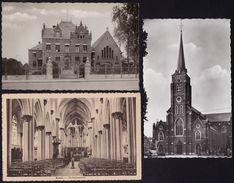 4 Mooie Kaarten RUMST - ( Antwerpen ) - Kerk Binnen ( 2x) En Buiten  En Missiehuis - 2 Scans - Rumst