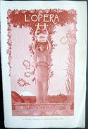 PROGRAMME L'OPERA GLUCK ARMIDE 7 AVRIL 1906 PAPIER GLACE BELLE COMPOSITION ALLEGORIQUE DE GORGUET ART NOUVEAU 12 P - Programmes