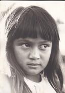 PHOTO--POLYNESIE Souvenir D'escale à TAHITI  Vahiné ?--porte-avions FOCH Ou CLEMENCEAU ( Année 1966-68 ? )-voir 2 Scans - Polynésie Française