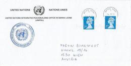 Sierra Leone 2011 BFPO 3040 UNIPSIL UN Peacebuilding Military Forces Cover - Sierra Leone (1961-...)
