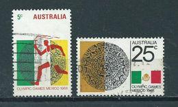 1968 Australia Complete Set Olympic Games Mexico Used/gebruikt/oblitere - 1966-79 Elizabeth II