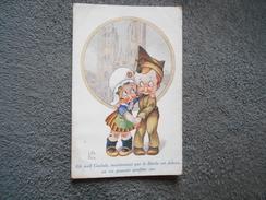 """Cpa Dessin Little Pitche Petit Soldat """"""""Eh Well Gudule,....""""ça Est La Paix  1919 - Illustrators & Photographers"""