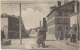 16 - RUELLE - Entrée De La Fonderie Et Rue Du Maine-Gagnaud. Animée, Circulé En 1930. - France