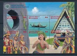 [34975] Micronesia 2002 Reptiles United Nations Eco Tourism MNH Sheet - Reptiles & Amphibians