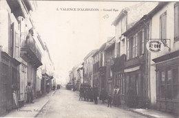 VALENCE D'ALBIGEOIS   Grand'' Rue ( Plan Animé Devant Commerce De CHAUSSURES Et CHAPELLERIE ) - Valence D'Albigeois