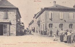 VALENCE D'ALBIGEOIS   La MAIRIE Et La Grande Rue  ( Plan Animé ) - Valence D'Albigeois