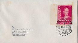 ARGENTINA 1954 - Letter DIA DE EMISION 26.JUL 54 - FDC