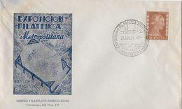 ARGENTINA 1954 - Letter Exposicion Filatelica Metropolitana Buenos Aires - Argentine