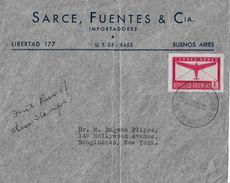 ARGENTINA CORREO AEREO 1940 - Letter Sarce Fuentes & Cia. Buenos Aires - Poste Aérienne