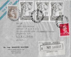 ARGENTINA 1955 - R-Letter Ernesto Walter Buenos Aires To Linz/Austria - Argentine